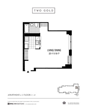 floorplan for 2 Gold Street #702