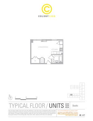 floorplan for 1209 Dekalb Avenue #324