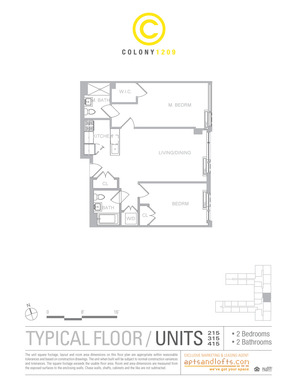 floorplan for 1209 Dekalb Avenue #315