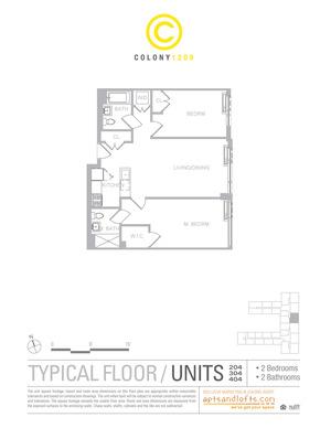 floorplan for 1209 Dekalb Avenue #204