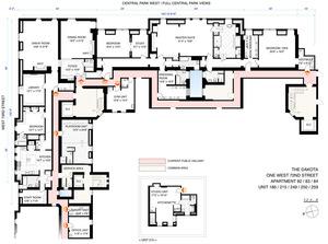 floorplan for 1 West 72nd Street #84