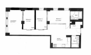 floorplan for 175 East Broadway #3C