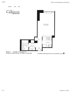 floorplan for 60 West 23rd Street #1005