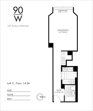 floorplan for 90 Washington Street #24C