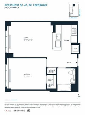 floorplan for 305 West 16th Street #4C