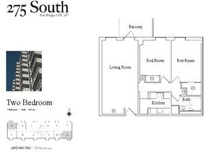 floorplan for 275 South Street #3D