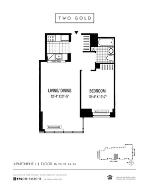 floorplan for 2 Gold Street #2606