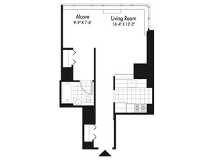 floorplan for 601 West 57th Street #22L