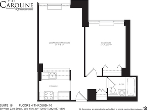 floorplan for 60 West 23rd Street #1018