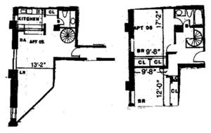 floorplan for 2 Cornelia Street 805/905