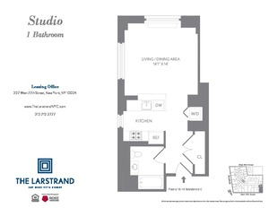floorplan for 227 West 77th Street #10C