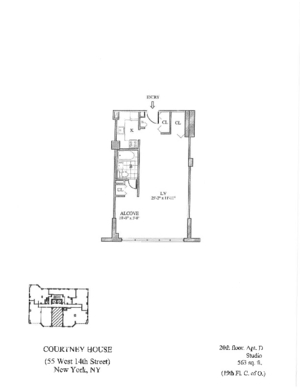 floorplan for 55 West 14th Street #20D