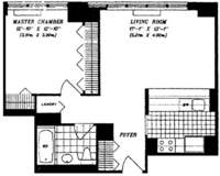 floorplan for 422 East 72nd Street #32B
