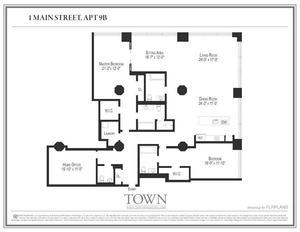 floorplan for 1 Main Street #9B