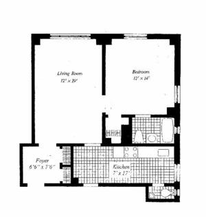 floorplan for 221 W 82nd Street #7B