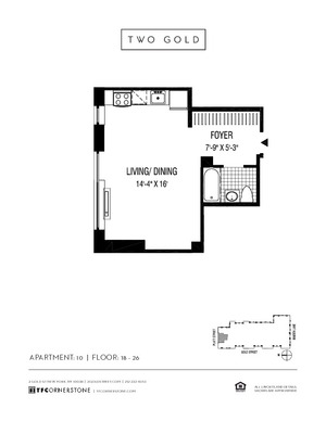 floorplan for 2 Gold Street #2610