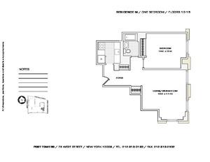 floorplan for 75 West Street #14M