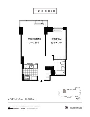 floorplan for 2 Gold Street #1412