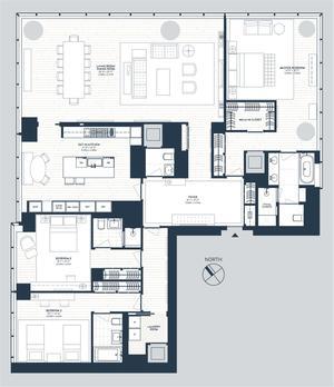 floorplan for 157 West 57th Street #54A