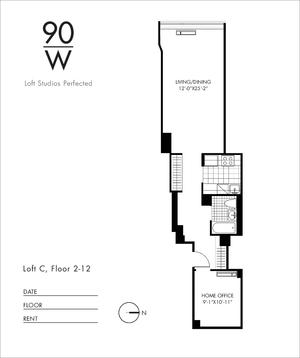 floorplan for 90 Washington Street #8C