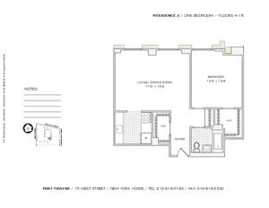floorplan for 75 West Street #8J