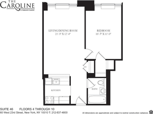 floorplan for 60 West 23rd Street #546