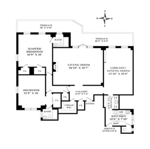 floorplan for 15 West 81st Street #12H
