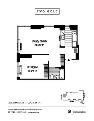 floorplan for 2 Gold Street #3910