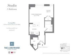 floorplan for 227 West 77th Street , #5H