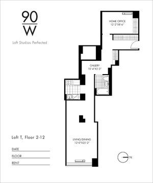 floorplan for 90 Washington Street #2T