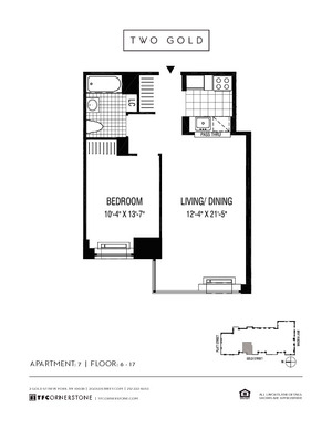 floorplan for 2 Gold Street #1607