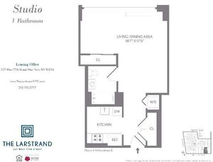 floorplan for 227 West 77th Street #7D