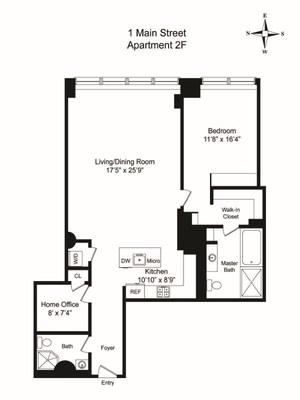 floorplan for 1 Main Street #2F