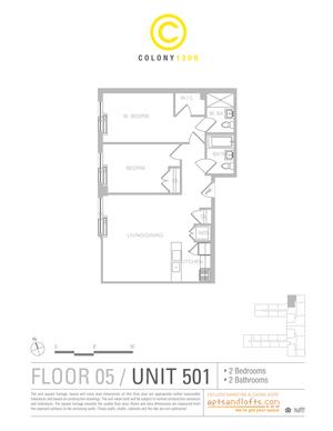 floorplan for 1209 De Kalb Avenue #501