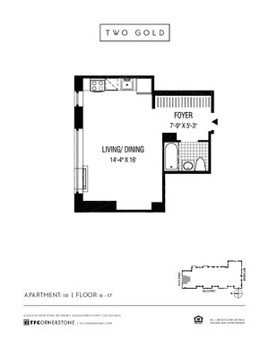 floorplan for 2 Gold Street #610