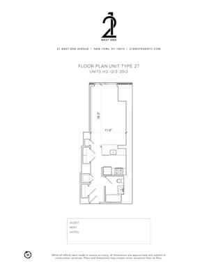 floorplan for 21 West End Avenue #1313