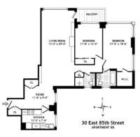 floorplan for 30 East 85th Street #8B