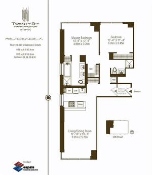 floorplan for 39 East 29th Street #26A