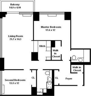 floorplan for 422 East 72nd Street #17E