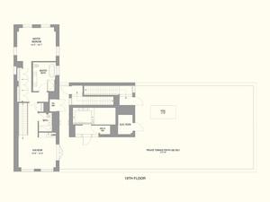 floorplan for 55 West 17th Street PENTHOUSE