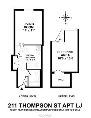 floorplan for 211 Thompson Street #LJ