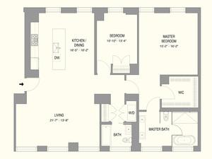 floorplan for 55 West 17th Street #1702