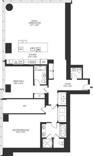 floorplan for 157 West 57th Street #32B