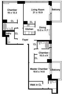 floorplan for 422 East 72nd Street