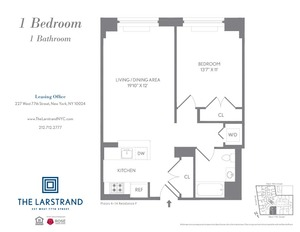 floorplan for 227 West 77th Street , #10F