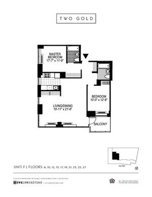 floorplan for 2 Gold Street #23F