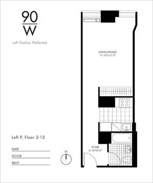 floorplan for 90 Washington Street #11P