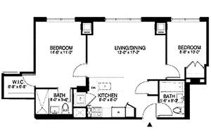 floorplan for 315 Gates Avenue #2P