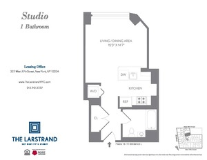 floorplan for 227 West 77th Street #12L
