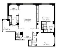 floorplan for 150 Central Park South #1706